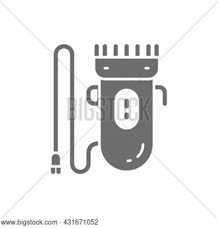 Hair Clipper, Trimmer, Electric Shaver Grey Icon.