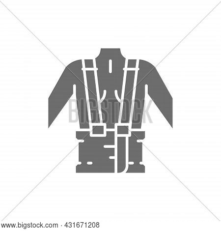 Orthopedic Belt For Back Support Grey Icon.