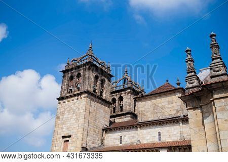 View of the Cathedral of Braga (Se de Braga) is a Roman Catholic church in the northern city of Braga, Portugal.
