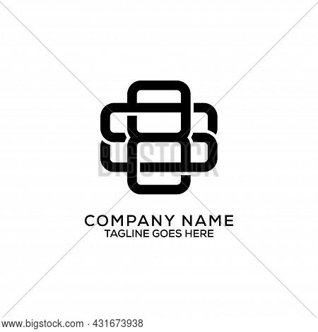 Monogram Bs Initial Letter Name Logo Design, Minimalist B And S Brand Name Logo Concepts