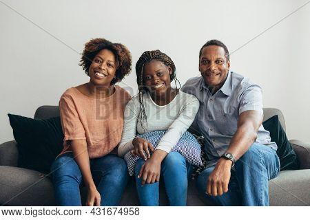 Happy family bonding at home