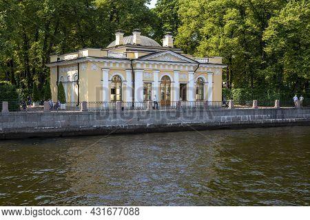St. Petersburg, Russia - July 09, 2021: Coffee House In The Summer Garden In St. Petersburg, Built I