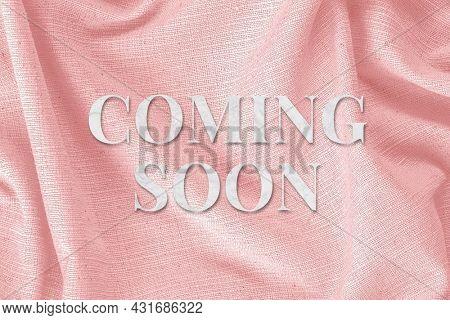 Pink Coming soon word art typography