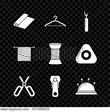 Set Textile Fabric Roll, Hanger Wardrobe, Cutter Tool, Scissors, Zipper, Needle Bed And Needles, Kni