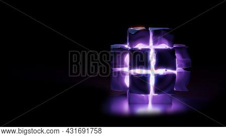 4k Uhd 3d Illustration Of Purple Cubes