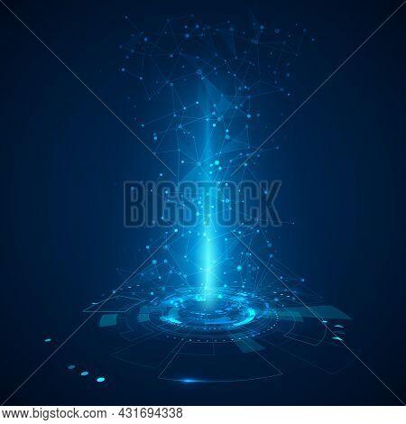 Futuristic Hud Elements. Hologram Ui Elements Virtual Reality. Sci Fi Futuristic User Interface. Abs