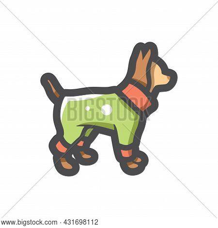 Pet Clothes Doggy Vector Icon Cartoon Illustration.