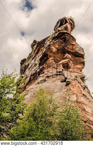 Rock Formation At Trifels Castle Near Annweiler, Palatinate Forest Nature Park, Rhineland-palatinate
