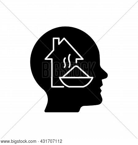Physiological Motivation Black Glyph Icon. Satisfy Basic Human Needs. Hunger And Tiredness. Will To