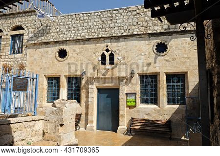 Safed, Israel - September 24, 2017: Ari Ashkenazi Synagogue In Safed. Synagogue Was Built In The Six
