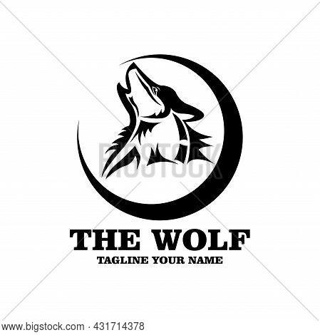 Wolf Animal Design Logo Vector. Wolf Head Animal Vector