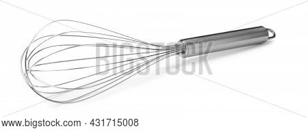 New Metal Balloon Whisk Isolated On White