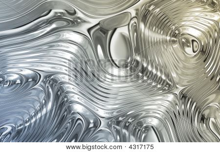 Liquid Metal Wild Clean Ripple Texture Background poster