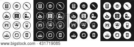 Set Fountain Pen Nib, Insects Frame, Man Hat, Calculator, Burger, School Backpack, Tetris And Postal