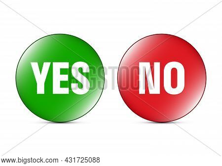 Yes And No Sign Icon Button Vector Illustration
