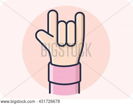 Hand Gestures Of Love, This Is A Raised Hand With The Palm Facing Forward  Little Finger Index Finge