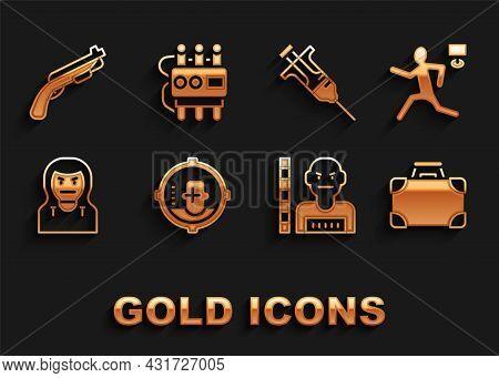 Set Headshot, Murder, Briefcase And Money, Suspect Criminal, Thief Mask, Syringe, Police Shotgun And
