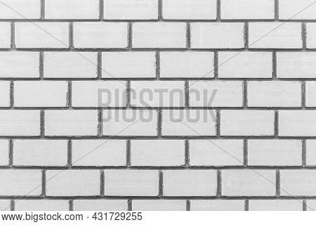 Brick White Blocks Masonry Wall Texture Background.