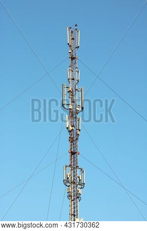 Radio Transmission Antenna With Various Radars And Antennas For Broadcasting Internet Signal And Oth