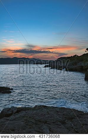 Sunset On The Mediterranean Sea. This Is The