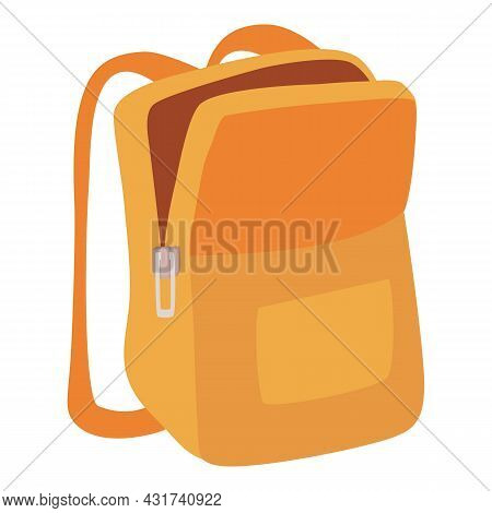 Textile School Backpack Icon Cartoon Vector. Bag Pack. Rucksack Satchel