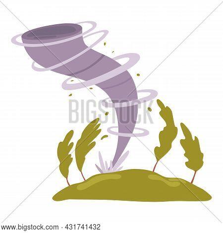 Tornado Icon Cartoon Vector. Storm Hurricane. Whirlwind Disaster