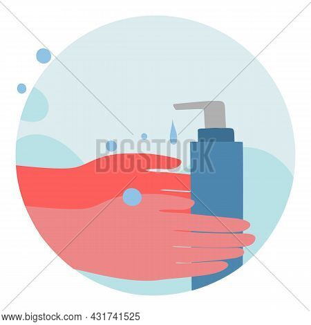 Soap Hand Wash Icon Cartoon Vector. Clean Water Hygiene. Child Toilet Soap