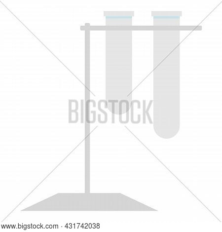 Lab Test Tube Icon Cartoon Vector. Chemistry Laboratory. Medical Research