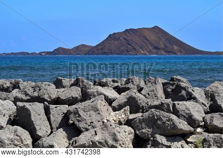 Isla De Lobos A Volcanic Island Off The Coast Of Fuerteventura One Of The Canary Islands