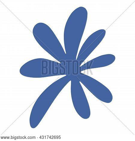 Botanical Plant Icon Cartoon Vector. Wild Flower Branch. Garden Nature Element