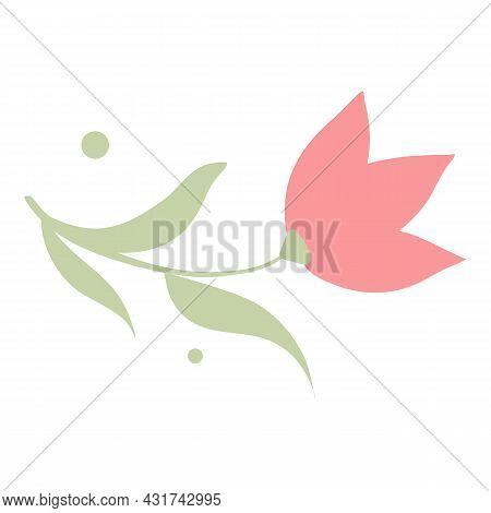 Garden Flower Icon Cartoon Vector. Spring Floral Plant. Design Nature Element