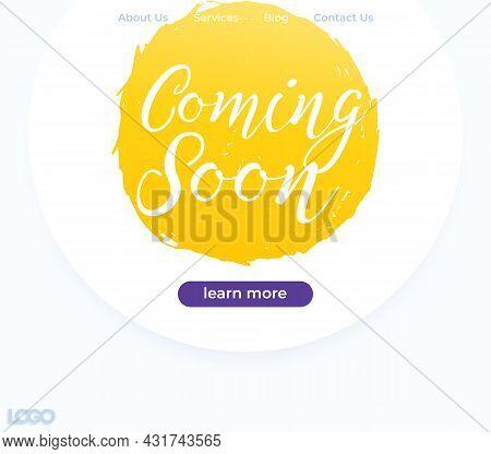 Coming Soon Vector Banner Or Website Design