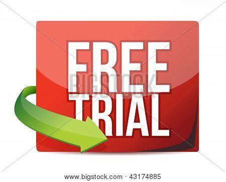 Free Trial Arrow Label