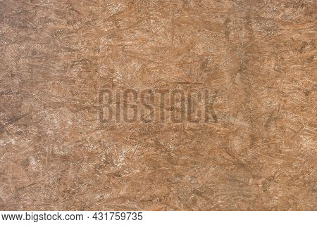 Brown Chipboard Abstract Old Pattern Surface, Dark Pressed Wood Texture, Particleboard Background.