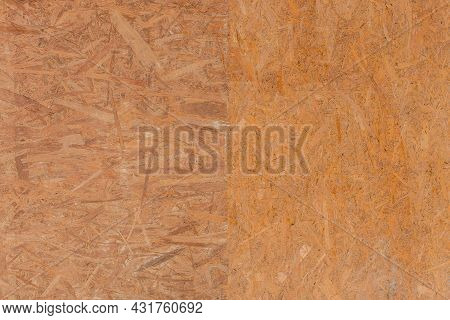 Brown Chipboard Abstract Pattern Surface, Pressed Wood Texture, Particleboard Background.