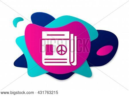 Color News Icon Isolated On White Background. Newspaper Sign. Mass Media Symbol. Abstract Banner Wit