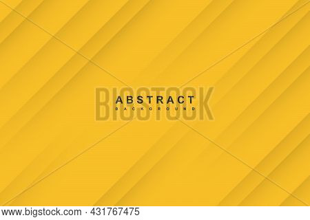 Abstract Yellow Background With Diagonal Papercut Lines