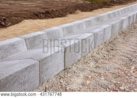 A System Of Concrete Modules For Draining Excess Water From The Road Surface.  Construction Of The H