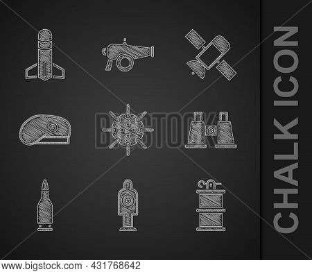 Set Naval Mine, Human Target Sport For Shooting, Hand Smoke Grenade, Binoculars, Bullet, Military Be