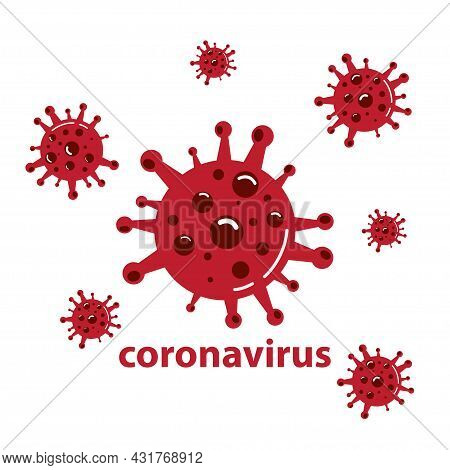 Coronavirus Covid-19 Pandemic Vector Illustration, The Illustration Can Be Used For News, Web, Phone