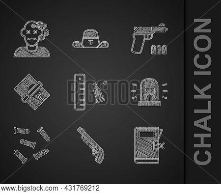 Set Bullet Casing With Ruler, Police Shotgun, Station Folder, Flasher Siren, Stacks Paper Money Cash