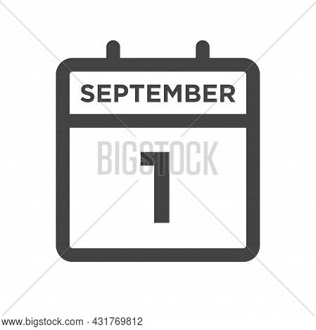 September 1 Calendar Day Or Calender Date For Deadline And Appointment
