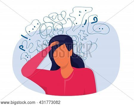 Woman Suffers From Obsessive Thoughts; Headache; Unresolved Issues; Psychological Trauma; Depression