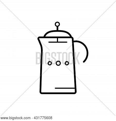 Glass Teapot, French Press, Coffee Pot For Coffee, Tea, Hot Drink. A Modern, Trendy, Minimalistic Li