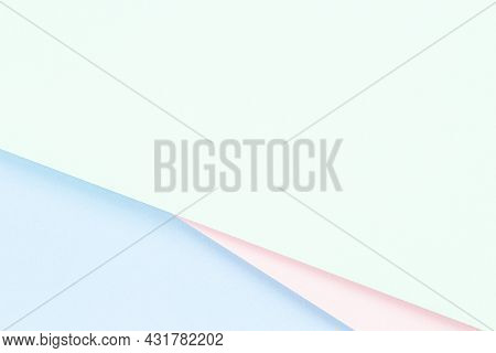 Abstract Colored Paper Texture Background. Minimal Geometric Shapes And Lines In Pastel Pink, Light