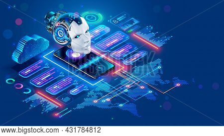 Chat Bot With Ai Helping Of Users Speakers Of Different Languages. Online Multilanguage Support. App