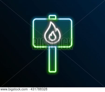 Glowing Neon Line Protest Icon Isolated On Black Background. Meeting, Protester, Picket, Speech, Ban