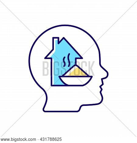 Physiological Motivation Rgb Color Icon. Satisfy Basic Human Needs. Hunger And Tiredness. Will To Su