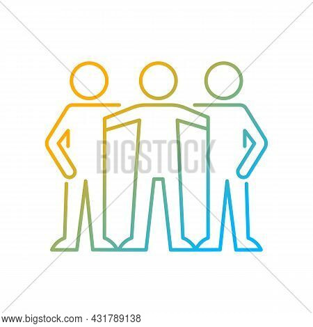 Affiliate Motivation Gradient Linear Vector Icon. Desire To Belong To Group. Team Member. Workplace