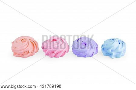 Puffy Marshmallows On A White Background Snack, Baking, Soft, Eat, Fat, Bunch, Junk, Sugar, Fluffy